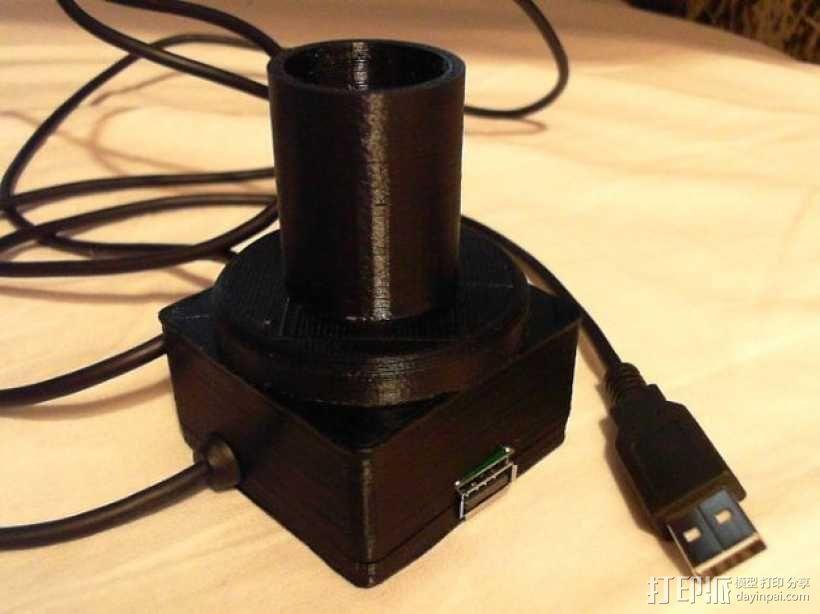 望远镜适配器 3D模型  图1