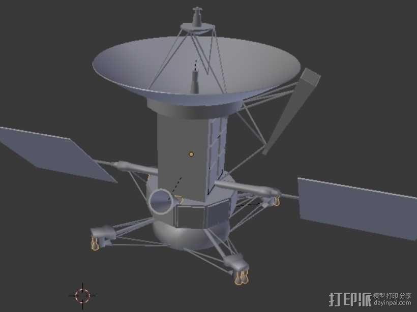 麦哲伦号金星探测器模型 3D模型  图1