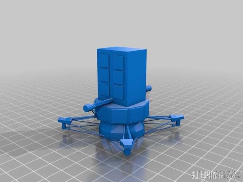 麦哲伦号金星探测器模型 3D模型  图2