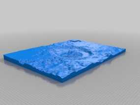 盖尔陨坑模型 3D模型