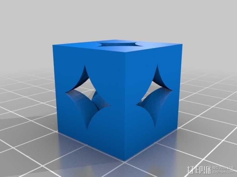 立方晶格模型 3D模型  图1