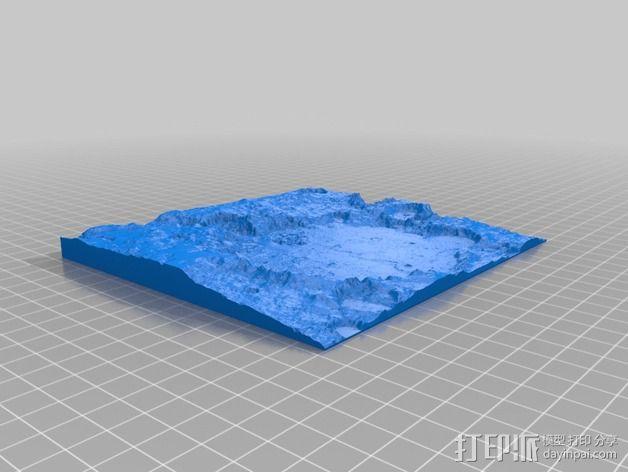 古谢夫环形山 陨石坑模型 3D模型  图2