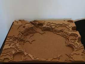 古谢夫环形山 陨石坑模型 3D模型