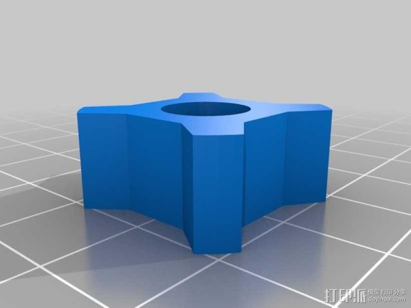 望远镜照相机架 3D模型  图4