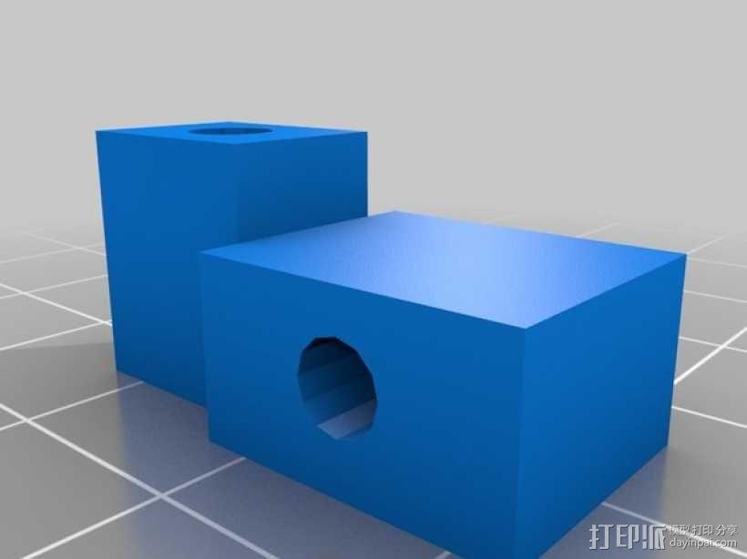 望远镜照相机架 3D模型  图5