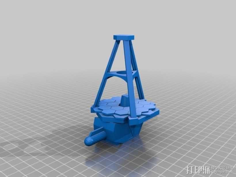 詹姆斯·韦伯太空望远镜  3D模型  图2