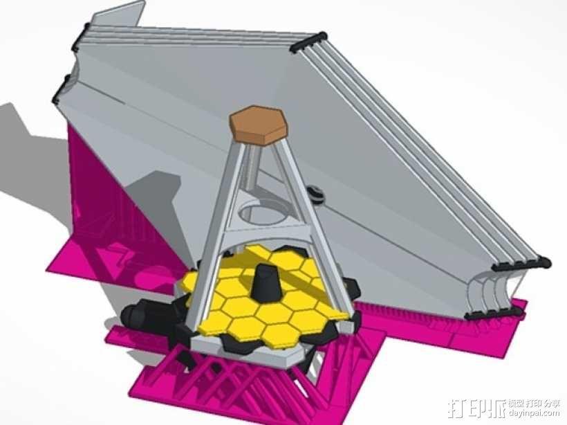 詹姆斯·韦伯太空望远镜  3D模型  图1