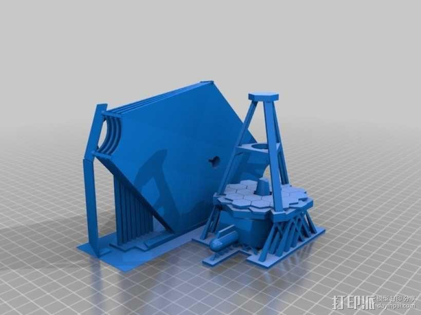 詹姆斯·韦伯太空望远镜  3D模型  图5
