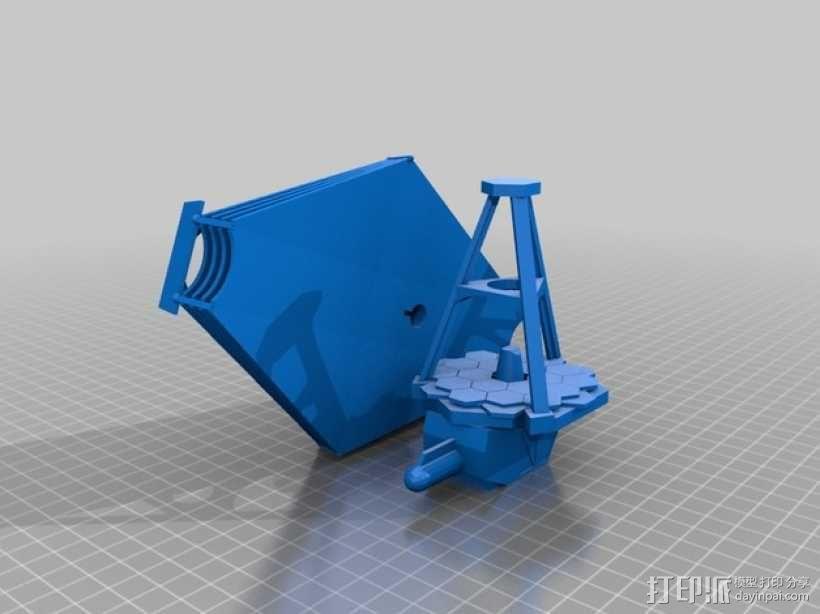 詹姆斯·韦伯太空望远镜  3D模型  图4