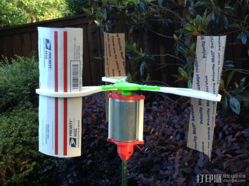 竖轴风车 垂直轴风力机 3D模型  图1