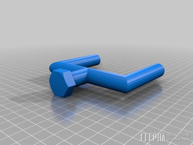 特制螺丝钉 3D模型  图2