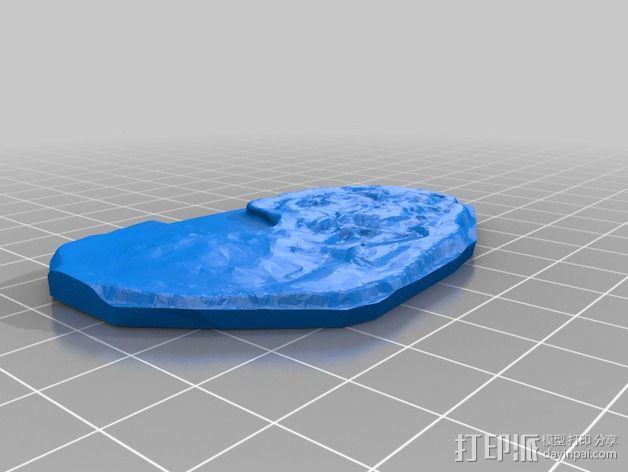 腔骨龙骨架化石模型 3D模型  图2
