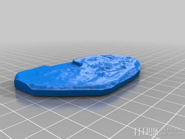 腔骨龙骨架化石模型 3D模型  图3