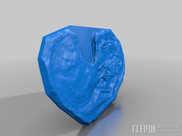 腔骨龙骨架化石模型 3D模型  图4