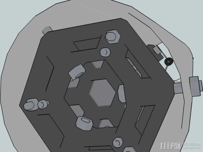 牛顿望远镜 3D模型  图4