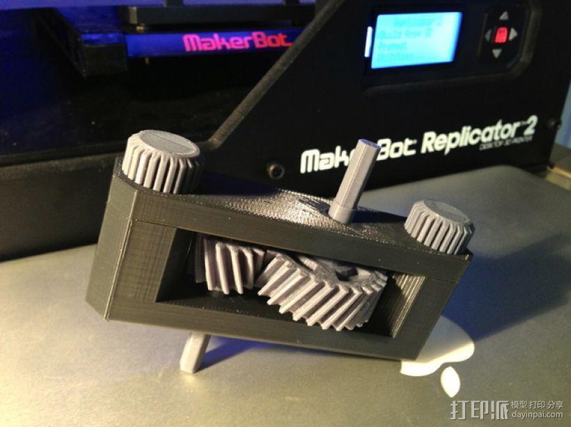 变速箱 齿轮箱 3D模型  图1