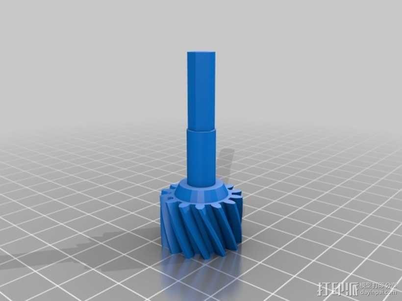 变速箱 齿轮箱 3D模型  图3