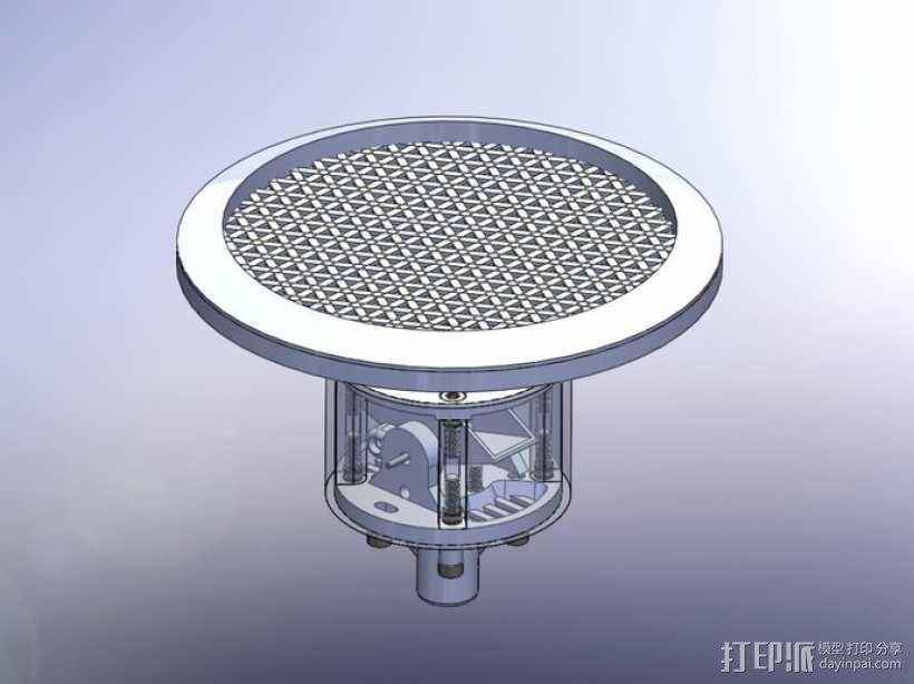 雨量器  3D模型  图1
