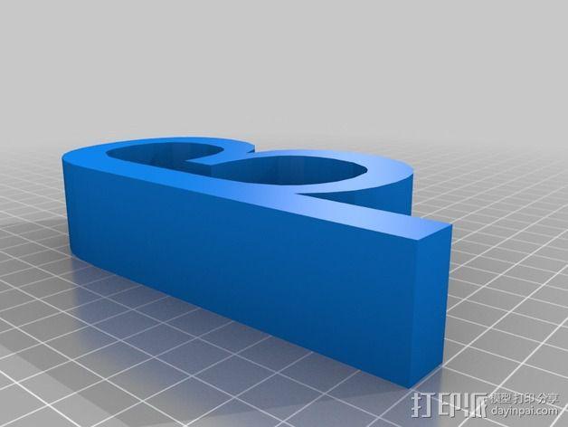 希腊字母 字母模型 3D模型  图4