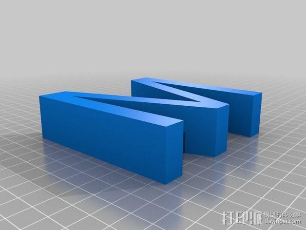 希腊字母 字母模型 3D模型  图24