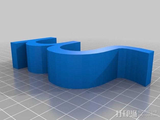 希腊字母 字母模型 3D模型  图27