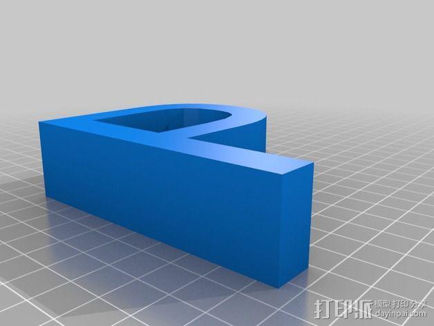 希腊字母 字母模型 3D模型  图34