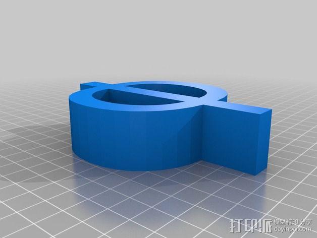 希腊字母 字母模型 3D模型  图42