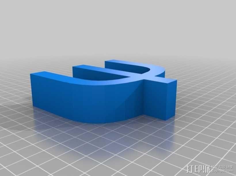 希腊字母 字母模型 3D模型  图46