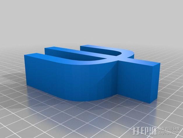 希腊字母 字母模型 3D模型  图45