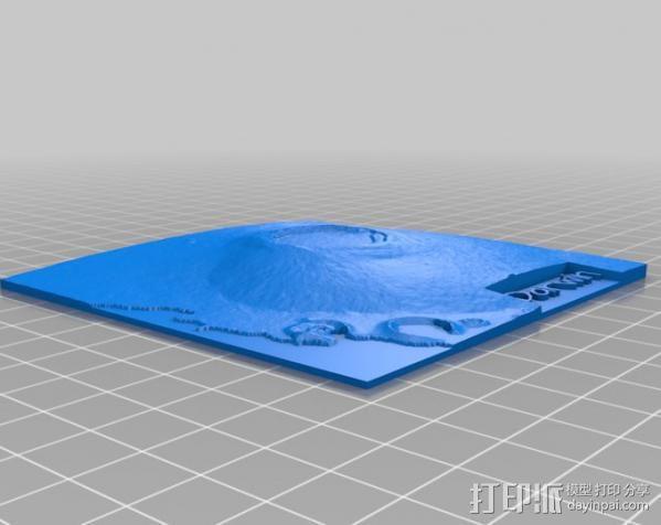 加拉帕戈斯群岛 火山 地形图模型 3D模型  图2