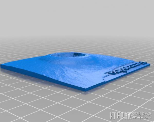 加拉帕戈斯群岛 火山 地形图模型 3D模型  图4