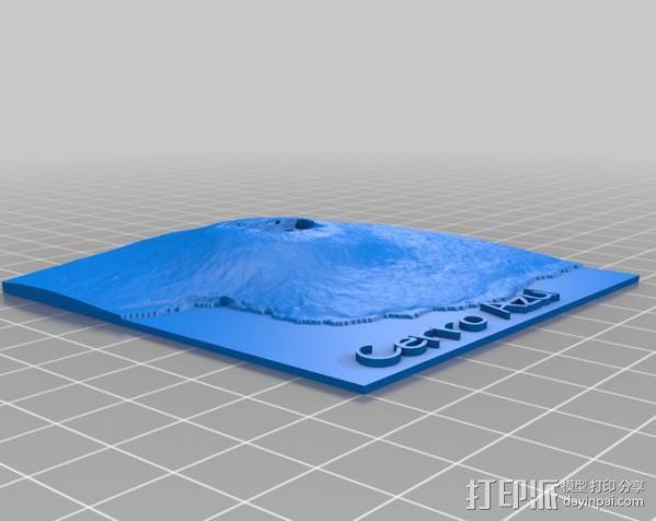 加拉帕戈斯群岛 火山 地形图模型 3D模型  图7