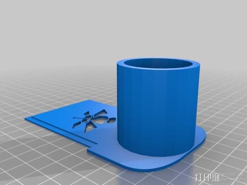 天文摄影望远镜目镜支架 3D模型  图1