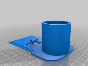 天文摄影望远镜目镜支架 3D模型