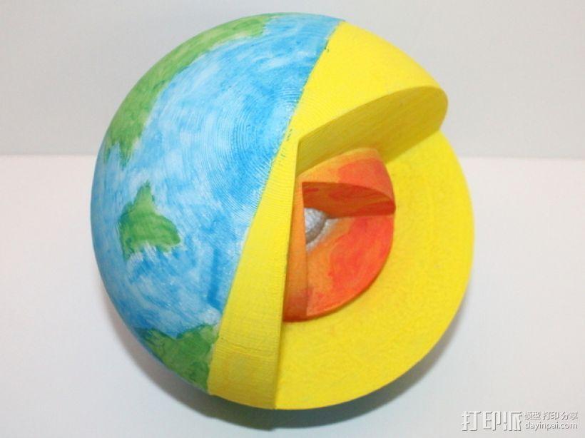 剖面地球模型 3D模型  图2