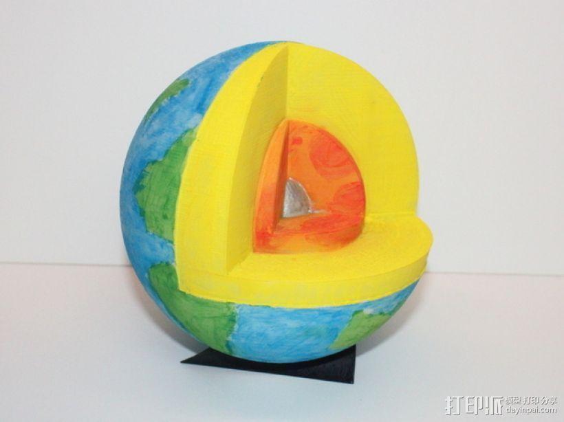 剖面地球模型 3D模型  图1
