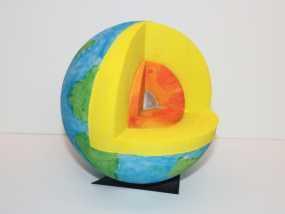 剖面地球模型 3D模型