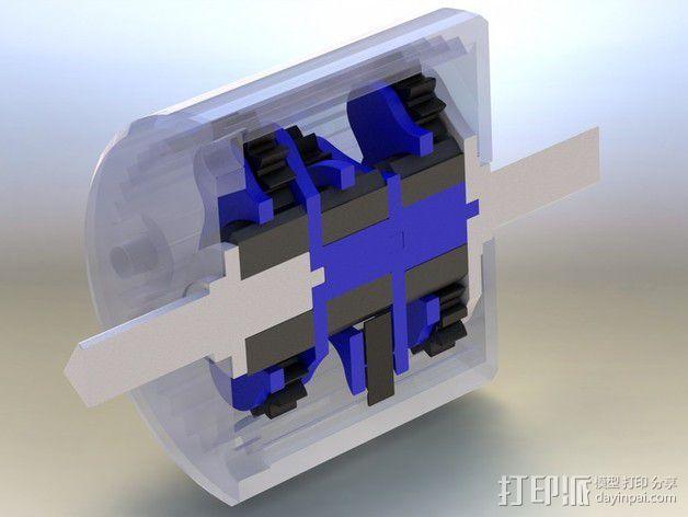 行星齿轮变速器 齿轮箱 3D模型  图3