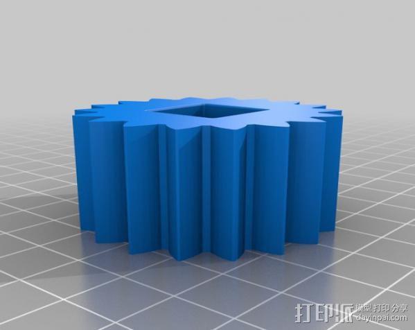 行星齿轮变速器 齿轮箱 3D模型  图11