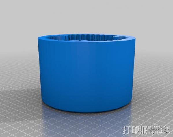 行星齿轮变速器 齿轮箱 3D模型  图10