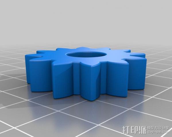 行星齿轮变速器 齿轮箱 3D模型  图14