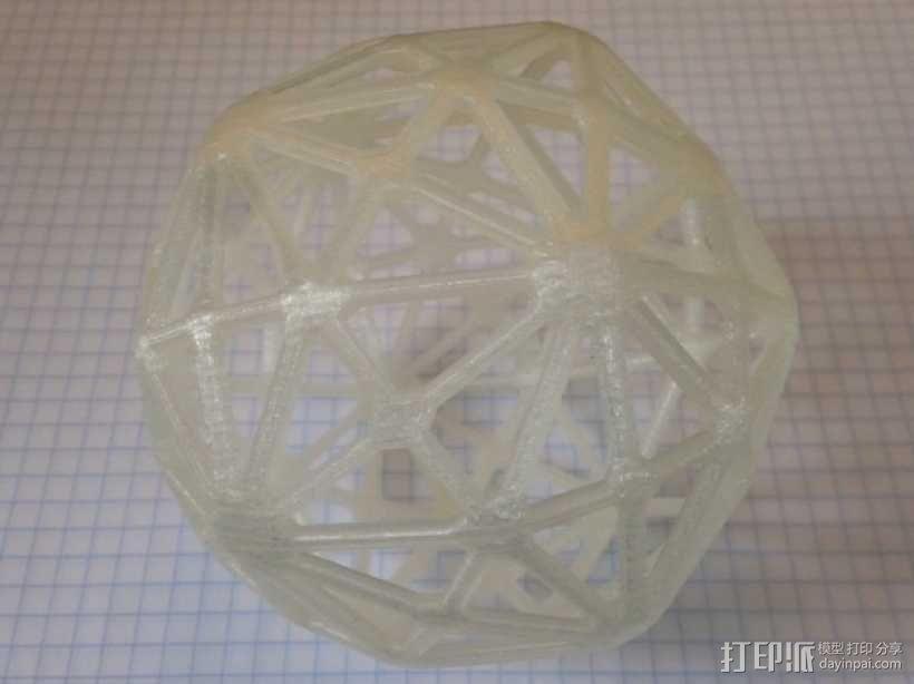 六角化二十面体 3D模型  图1