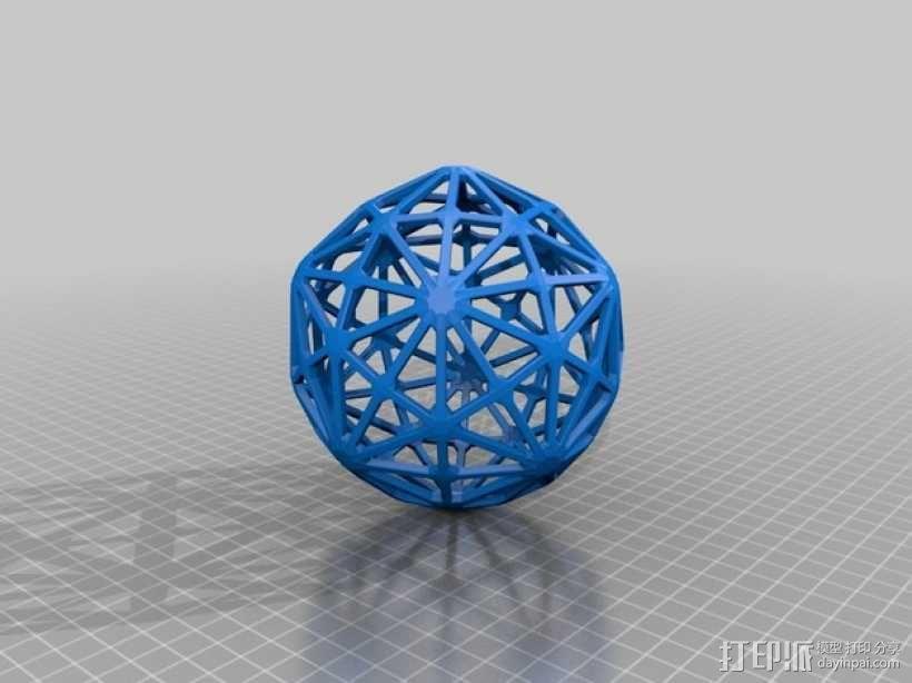 六角化二十面体 3D模型  图2