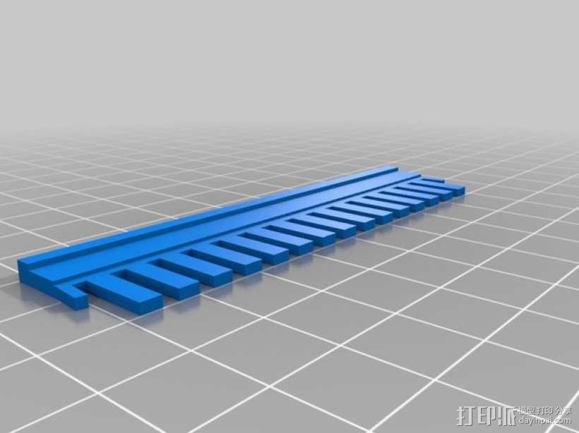 电泳梳子 伯乐小型电泳槽 3D模型  图5