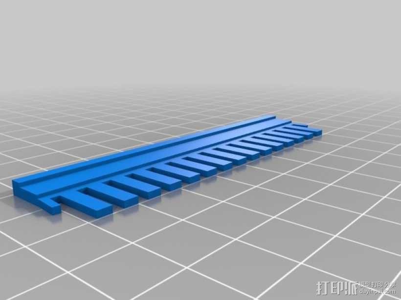 电泳梳子 伯乐小型电泳槽 3D模型  图6