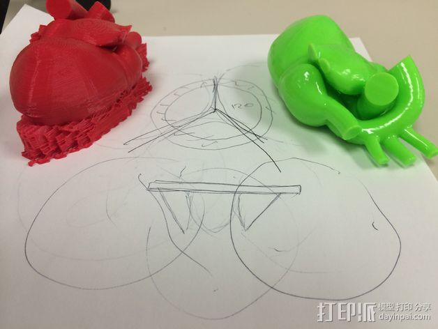 心脏主动脉瓣模型 3D模型  图2