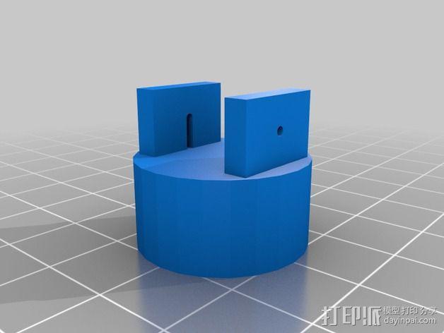 探头端部 3D模型  图2
