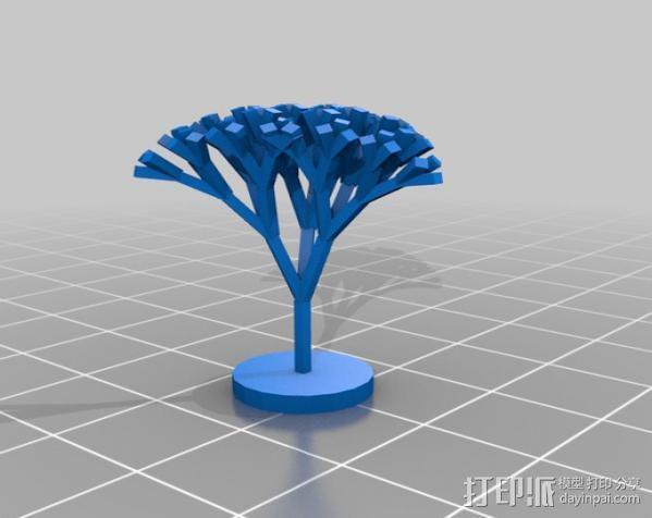 递归树模型 3D模型  图2