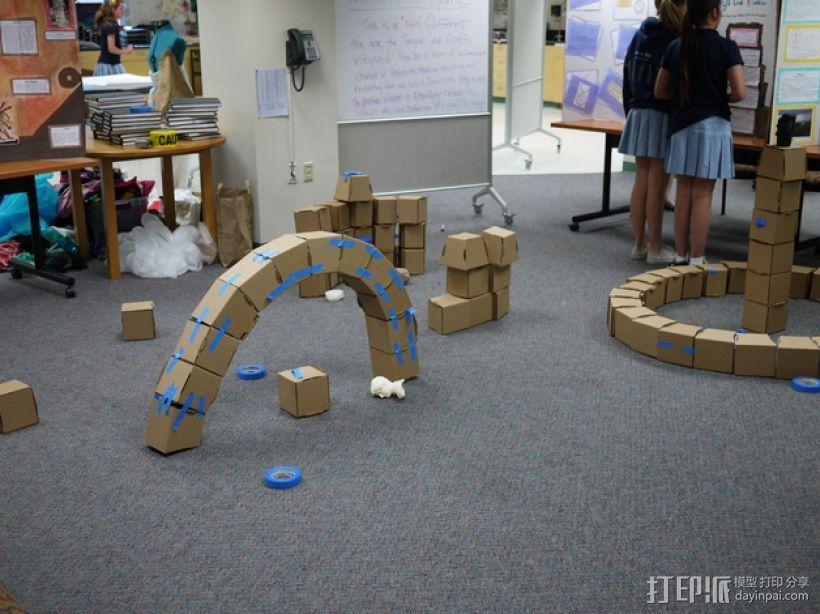 半圆形拱门 3D模型  图1