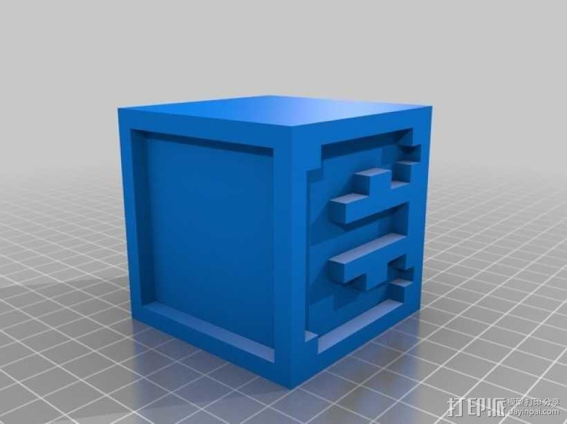 英文字母表 字母方块 3D模型  图6